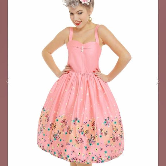 945da47d7eee56 Lindy Bop Dresses | Bambi Pink Bicycles Swing Dress | Poshmark